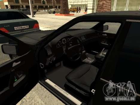 Mercedes-Benz w140 s600 pour GTA San Andreas vue de dessous