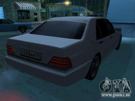 Mercedes-Benz w140 s600 für GTA San Andreas Innen