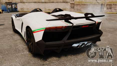 Lamborghini Aventador J 2012 Tricolore für GTA 4 rechte Ansicht
