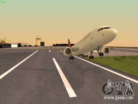 Airbus A320-211 Philippines Airlines pour GTA San Andreas vue intérieure