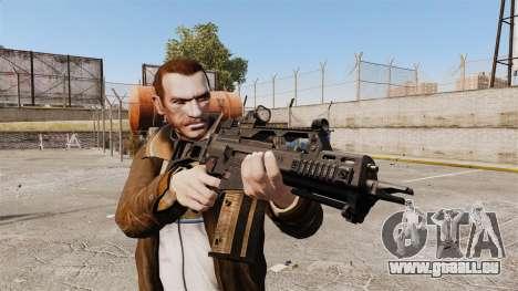 HK G36c pour GTA 4 troisième écran