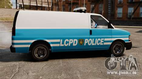 LCPD Police Van für GTA 4 linke Ansicht