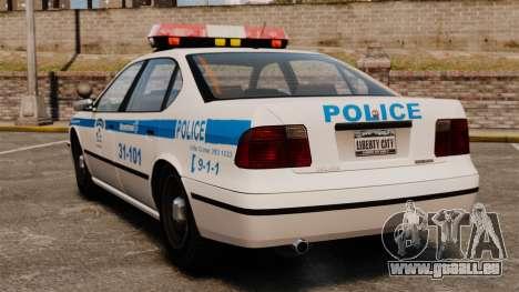 Montreal Polizei v2 für GTA 4 hinten links Ansicht
