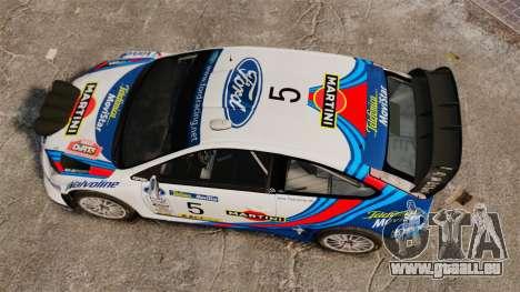 Ford Focus RS Martini WRC für GTA 4 rechte Ansicht