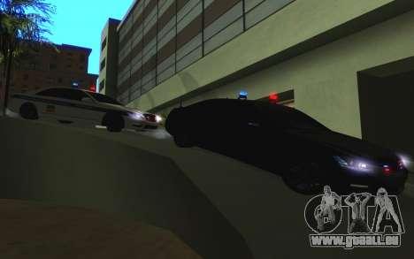 Mercedes-Benz S65 AMG W221 für GTA San Andreas Unteransicht