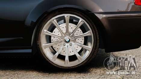 BMW M3 Coupe E46 pour GTA 4 Vue arrière