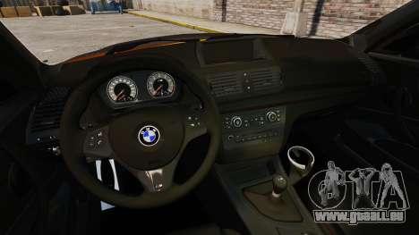 BMW 1M Coupe 2011 Fujiwara Tofu Shop Sticker für GTA 4 hinten links Ansicht