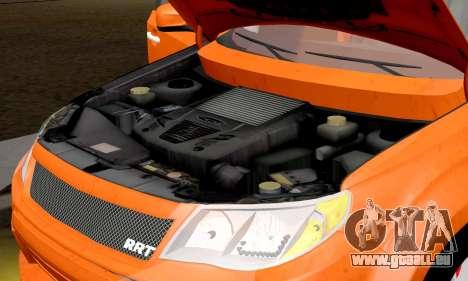 Subaru Forester RRT Sport 2008 v2.0 pour GTA San Andreas vue intérieure