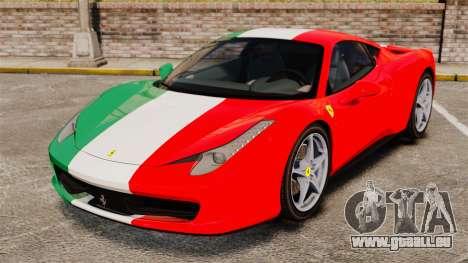 Ferrari 458 Italia 2010 Italian pour GTA 4