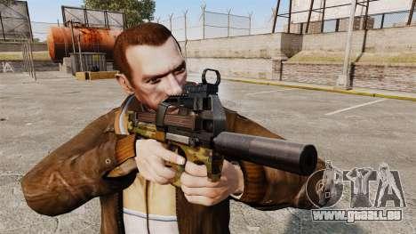 Belge FN P90 pistolet mitrailleur v5 pour GTA 4 troisième écran