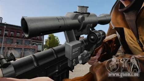 Dragunov sniper rifle v4 pour GTA 4 quatrième écran