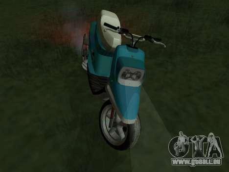 MBK Booster Spirit pour GTA San Andreas sur la vue arrière gauche