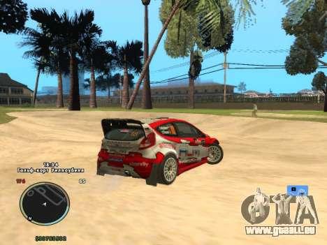 Ford Fiesta RS WRC pour GTA San Andreas laissé vue