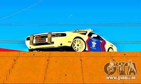 Dodge Challenger Indonesian Police pour GTA San Andreas laissé vue