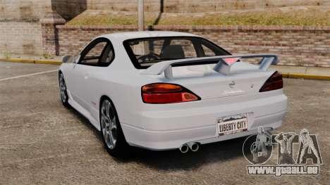Nissan Silvia S15 v1 pour GTA 4 Vue arrière de la gauche