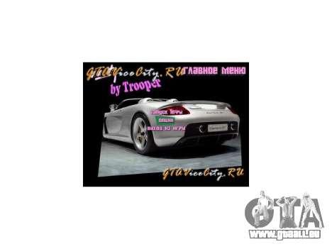 Neue Hintergrund Menü GTA Vice City für GTA Vice City