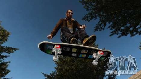 Skateboard iPhone pour GTA 4 Vue arrière