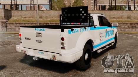 Ford F-150 v3.3 NYPD [ELS & EPM] v1 pour GTA 4 Vue arrière de la gauche