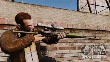 Dragunov Scharfschütze-Gewehr-v3 für GTA 4