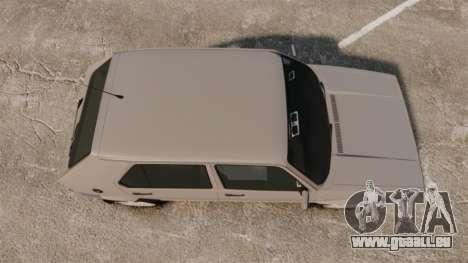 Volkswagen Citi Golf Velociti 2008 pour GTA 4 est un droit