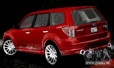 Subaru Forester RRT Sport 2008 v2.0 pour GTA San Andreas vue de dessous