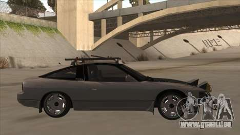 Nissan 240SX Rat pour GTA San Andreas sur la vue arrière gauche