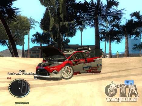 Ford Fiesta RS WRC pour GTA San Andreas sur la vue arrière gauche
