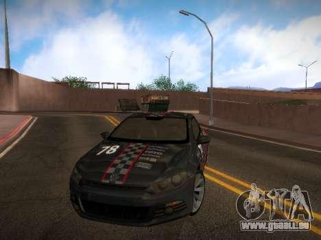 Volkswagen Scirocco pour GTA San Andreas salon