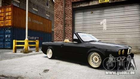 BMW M3 E30 Cabrio Stanced pour GTA 4 Vue arrière de la gauche