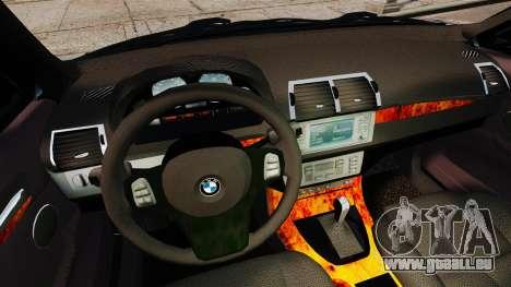 BMW X5 4.8iS v1 pour GTA 4 vue de dessus