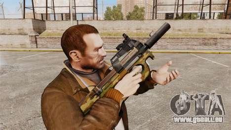 Belge FN P90 pistolet mitrailleur v5 pour GTA 4