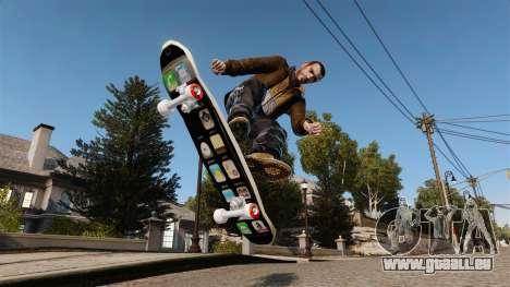 Skateboard iPhone pour GTA 4 Vue arrière de la gauche
