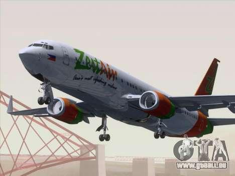 Boeing 737-800 Zest Air für GTA San Andreas linke Ansicht