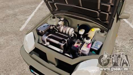 Daewoo Lanos FL 2001 pour GTA 4 est une vue de dessous
