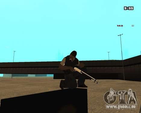 White Chrome Shotgun pour GTA San Andreas deuxième écran