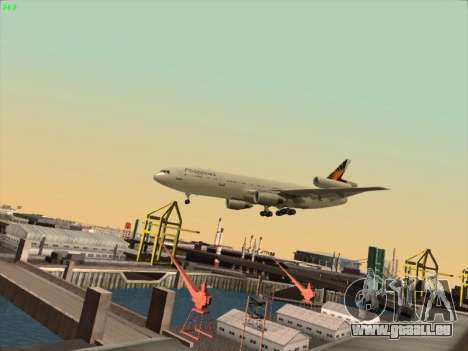 McDonell Douglas DC-10 Philippines Airlines pour GTA San Andreas vue intérieure