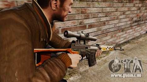 Dragunov Scharfschütze-Gewehr-v4 für GTA 4 Sekunden Bildschirm