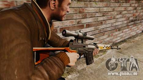 Dragunov sniper rifle v4 pour GTA 4 secondes d'écran