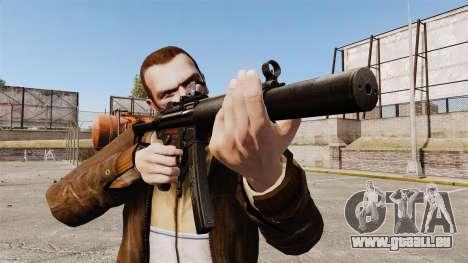 MP5SD mitraillette v2 pour GTA 4 troisième écran