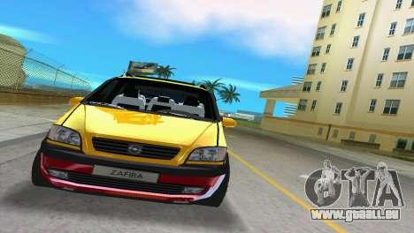 Opel Zafira pour une vue GTA Vice City de la gauche