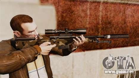 Fusil de sniper AW L115A1 avec un v10 de silenci pour GTA 4