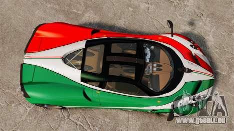 Pagani Huayra 2011 [EPM] Italian pour GTA 4 Vue arrière