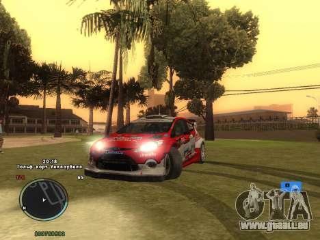 Ford Fiesta RS WRC pour GTA San Andreas vue de dessous