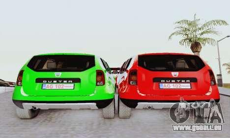 Dacia Duster Limo pour GTA San Andreas vue de droite