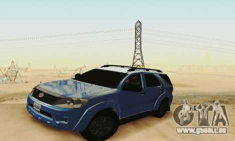 Toyota Fortuner Original 2013 pour GTA San Andreas vue intérieure