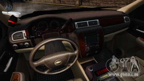 Chevrolet Tahoe 2008 Unmarked ELS für GTA 4 Rückansicht