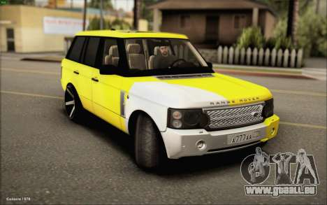 Land Rover Range Rover Gold Vossen pour GTA San Andreas sur la vue arrière gauche