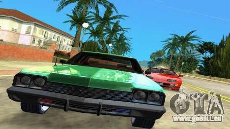Dodge Monaco Police pour GTA Vice City sur la vue arrière gauche