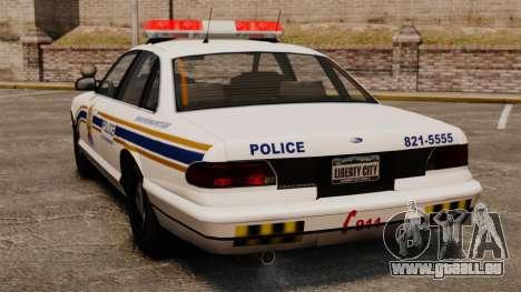 Police de Sherbrooke pour GTA 4 Vue arrière de la gauche