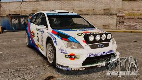 Ford Focus RS Martini WRC pour GTA 4